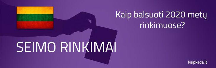 kaip balsuoti rinkimuose