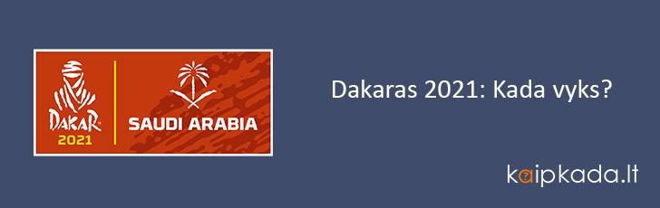 Dakaras 2021 Kada vyks