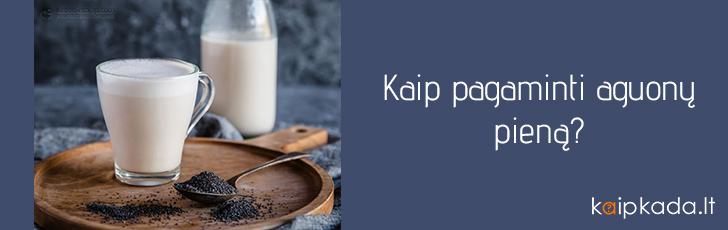 kaip pagaminti aguonu piena