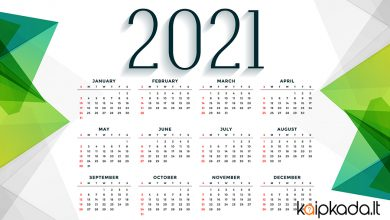 2021 kalendorius
