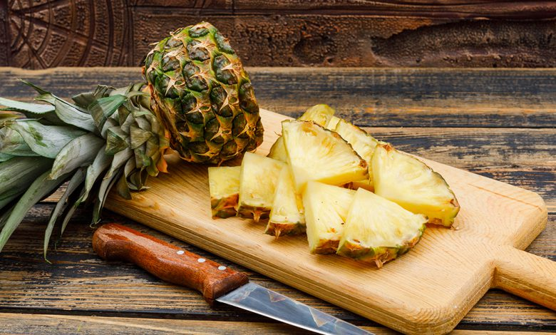 Kaip supjaustyti ananasa