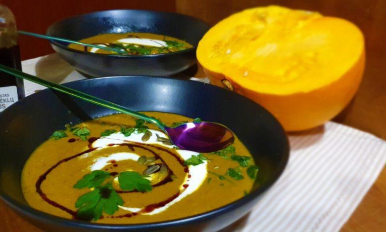 Baravykų ir moliūgų sriuba
