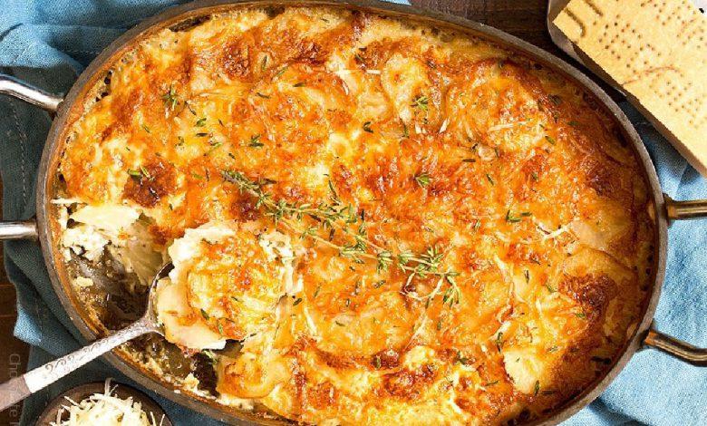 Bulvių užkepėlė su sūriu