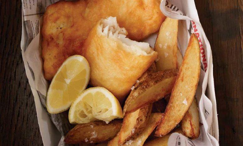 Gruzdintos žuvys su bulvėmis (Fish and chips)