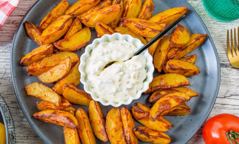 Keptų bulvių su paprikomis receptas