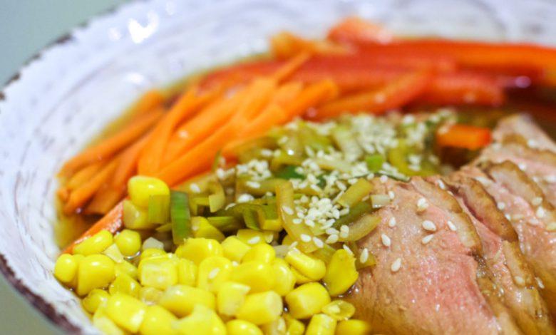 Sriuba su antiena ir daržovėmis