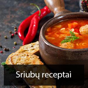 sriubu receptai