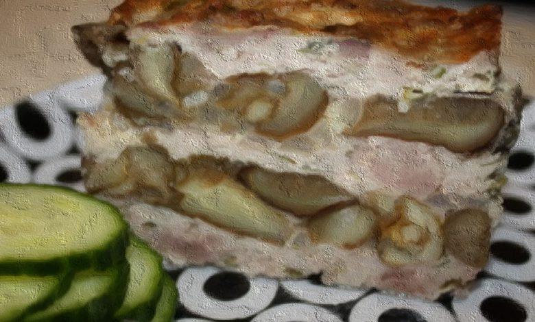 Veršienos ir grybų pyragas