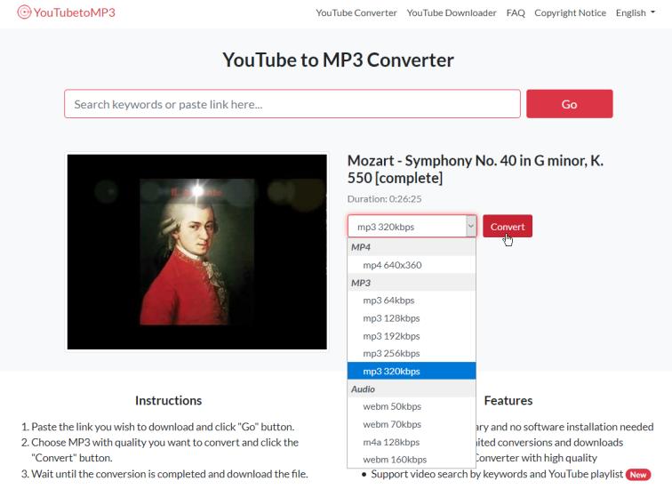 youtube i MP3 atsisiuntimas