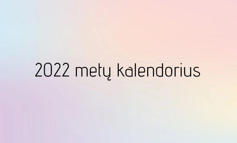2022 kalendorius 1