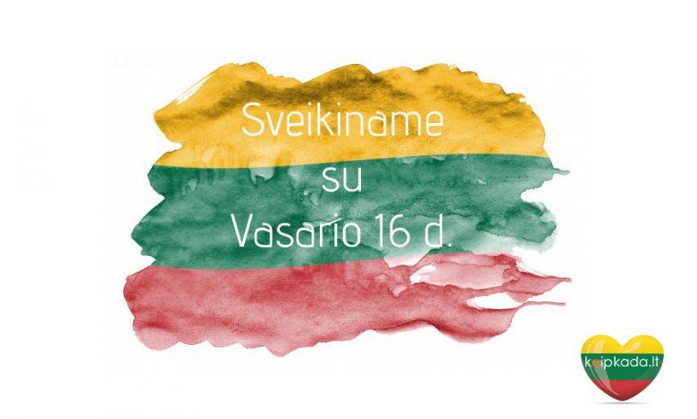 Su vasario 16 d Lietuvos valstybes atkurimo diena min