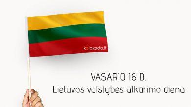 Vasario 16 d. Lietuvos valstybes atkurimo diena