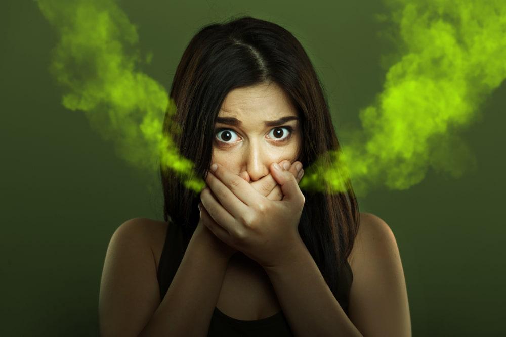 acto acetono kvapas is burnos min