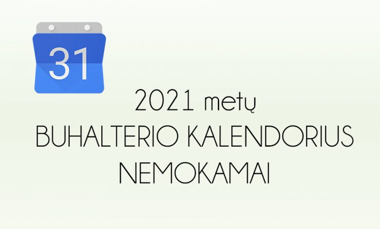 buhalterio kalendorius