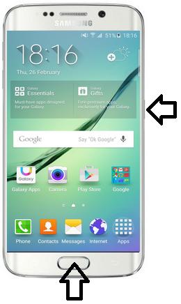 samsung ekrano nuotrauka seniems telefonams