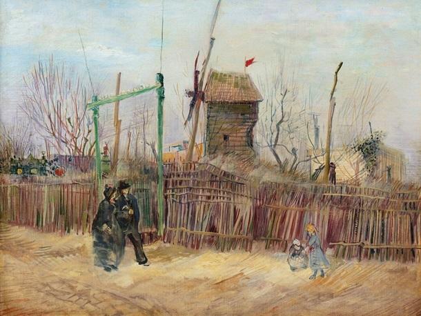 Vincentas Van Gogas Gatves scena paveikslas